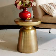 Copper Side Table Martini Side Table Metallics West Elm