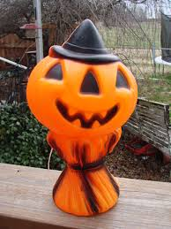 Reproduction Vintage Halloween Decorations by Vintage 1969 Empire Blow Mold Lighted Halloween Pumpkin Jack O