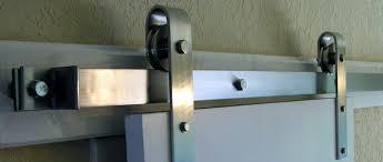 Overhead Barn Doors This Stainless Steel Overhead Flat Track Rolling Door Hardware Kit