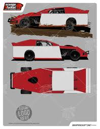 2014 dynamic dirt modified template of racing graphics