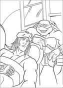 michelangelo and donatello coloring page free printable coloring