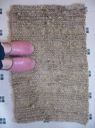 Fabric Rug Thinking Out Loud Knitted Rag Rug Tutorial