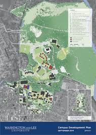 University Of Wisconsin Campus Map by Campus Development Plan Washington And Lee University