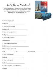english worksheet planning an itinerary esl pinterest