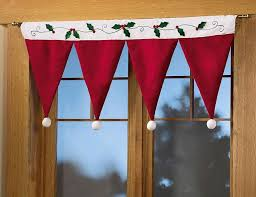 Christmas Kitchen Curtains by Lovable Christmas Curtain Designs Home Designing