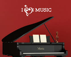 i love music wall decal quote with heart i love music with heart wall decal quote with piano white loading zoom