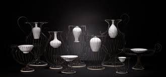 Steel Vases Porcelain And Stainless Steel Vases By Lin Wei Teng