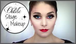 odile black swan stage makeup tutorial kathryn morgan youtube