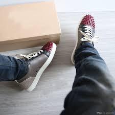 super quality red bottom sneakers flat shoes luxury designer men u0027s