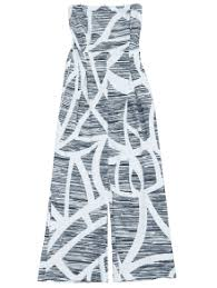strapless wide leg jumpsuit printed strapless wide leg jumpsuit white jumpsuits rompers l