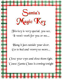 santa u0027s magic key poem cute for if you don u0027t have a chimmy or are