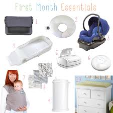 the 20 things you need for the month home with a newborn