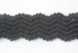 black lace ribbon elastic stretch beaded braided black lace ribbon trim