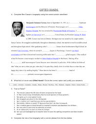 movie worksheet gifted hands ben carson u0027s story movies