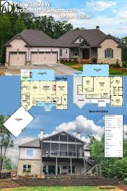 Sloping Lot House Plans Hillside by Vacation House Plans Sloped Lot Open Floor Plan Ranch House