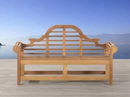 Java Bench Wooden Garden Benches Beliani Co Uk