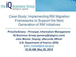 Department Of The Interior Doi Priscilla Emery Principal Information Management Iq Business