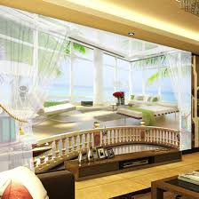 online buy wholesale seascape wall murals from china seascape wall custom photo wallpaper 3d seascape balcony large mural stereo space landscape living room sofa 3d wall