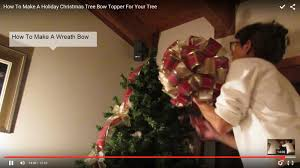 how to make a holiday christmas tree bow topper youtube