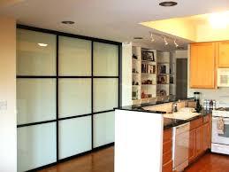 Sliding Door Kitchen Cabinets Barn Door Kitchen Pantry Glassnyc Co