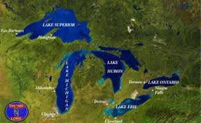 Chicago Map Of Usa by Great Lakes Region Wikipedia A Gorgeous Map Showing Every River
