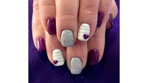 uas de gelish decoradas moda 2017 uñas decoradas con gelish rosa youtube