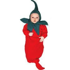 Newborn Halloween Costume Chili Pepper Bunting Infant Halloween Costume Walmart Com