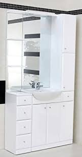 Combination Vanity Units For Bathrooms by White Combination Basin Vanity Unit Mirror Tall Boy Bathroom