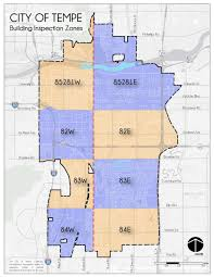 Az City Map Building Inspection Zones Map U0026 Information City Of Tempe Az