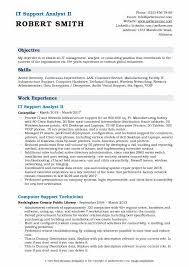 Computer Hardware And Networking Resume Samples It Support Analyst Resume Samples Qwikresume