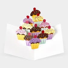 pop up cupcakes greeting card
