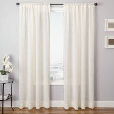 back tab curtains on traverse rod grommet top backtabs with rod