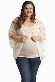 maternity clothes canada ivory lace dolman sleeve plus size maternity cardigan