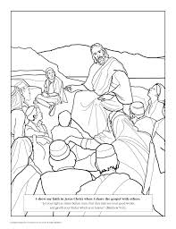 lds coloring pages i can be a good exle lesson 29 i can be a good exle lds lesson ideas