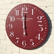 william sutton clock large 60cm red wall clock u2013 gingerinteriors