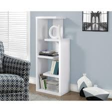 white bookcases home office furniture the home depot