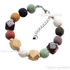 colored charm bracelet images Natural stone jewelry colored volcano beads charm bracelet for jpg