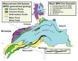 Lake Superior Map Synthesis Of The Tectonic Magmatic And Metallogenic Evolution Of