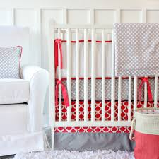 Navy And Coral Crib Bedding Coral Crib Bedding And Accessories Gray Crib Neutral Nurseries