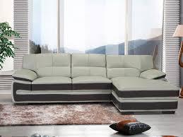 canapé d angle en cuir gris canapé d angle en cuir gris perle et chocolat vanya