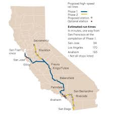 california high speed rail map the of high speed rail in california is taking longer and