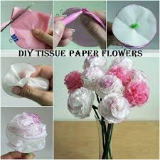 paper napkin flower tutorial diy tissue paper flowers diy ideas and crafts