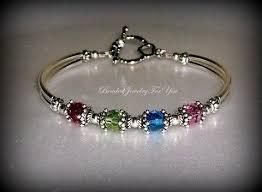 mothers bracelet birthstone bracelet mothers day gift custom bracelets beaded