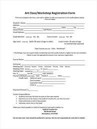 workshop registration form template summer camp registration form