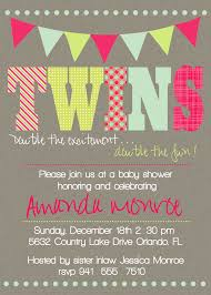 baby shower invitations for twin twin elephant baby shower