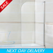 180 pivot radius frameless glass over bath shower screen door
