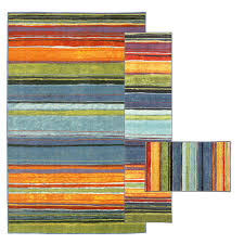 mohawk home rainbow multi 7 ft 6 in x 10 ft 3 piece rug set