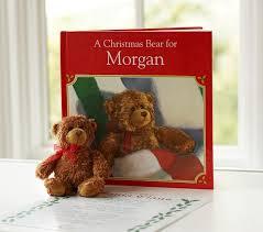 Pottery Barn Kids Books A Christmas Bear Personalized Book U0026 Plush Set Pottery Barn Kids