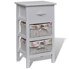 Baskets For Bathroom Storage White Cabinet 1 Drawer 2 Baskets Wood Bathroom Storage Unit Basket