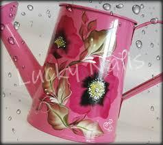 hand painted watering can hand painted watering can pinterest